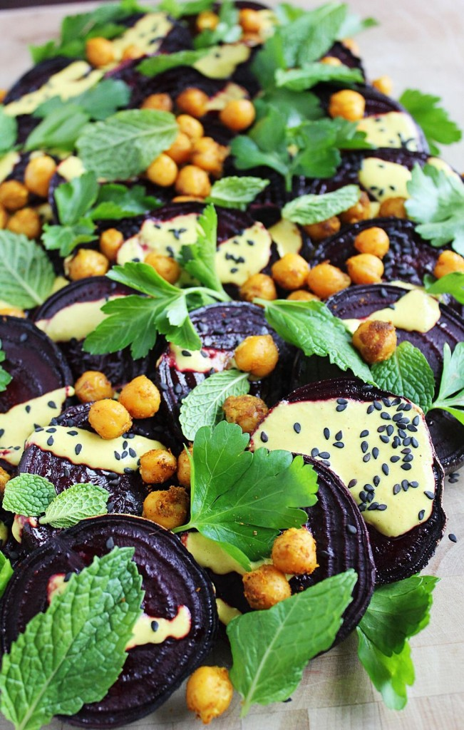 Roasted Beet Salad with Tahini Dressing