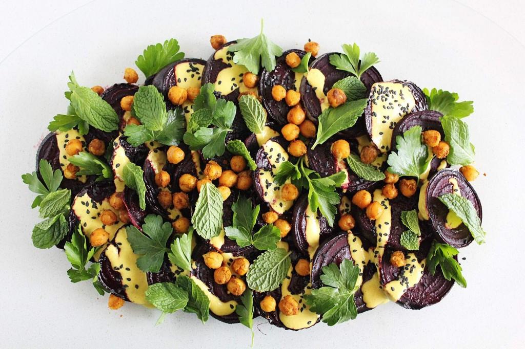 Beet Salad with Tahini Dressing
