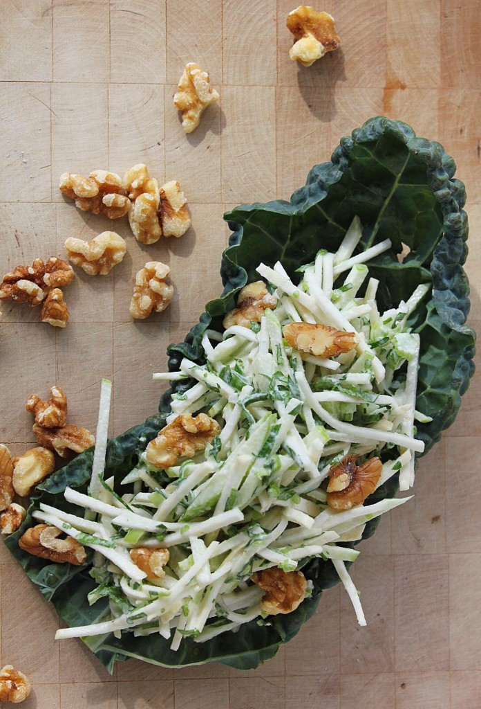 Vegan Celery Root Rémoulade with Green Apple & Walnuts