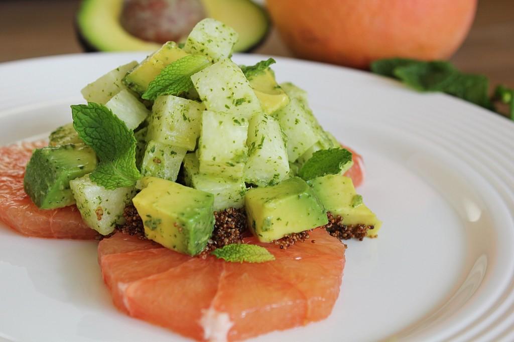 Jicama & Avocado Salad with Grapefruit | The Crushing Cancer Kitchen