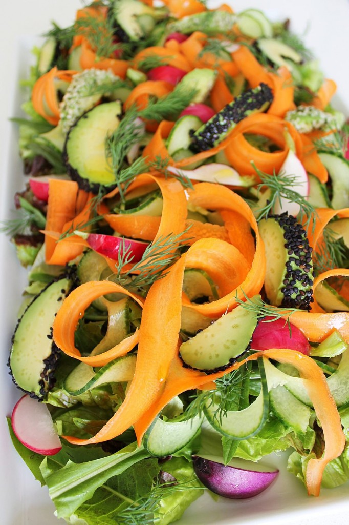 Clean Green Salad with Seed-Crusted Avocado
