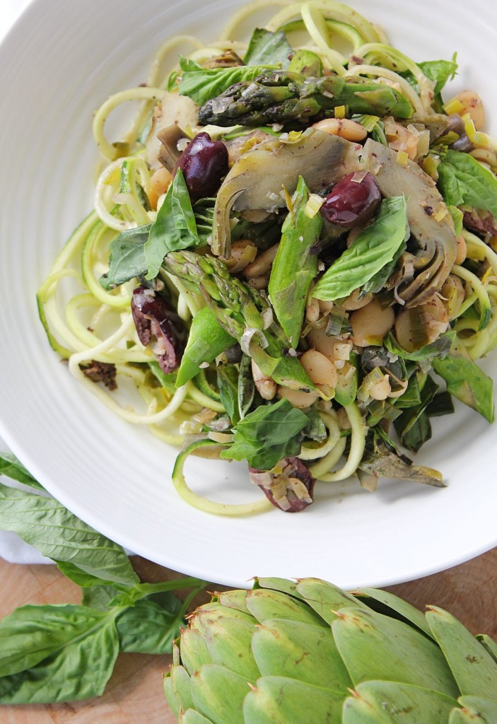 Artichoke & Asparagus Pasta with Butter Beans & Olives | The Crushing...