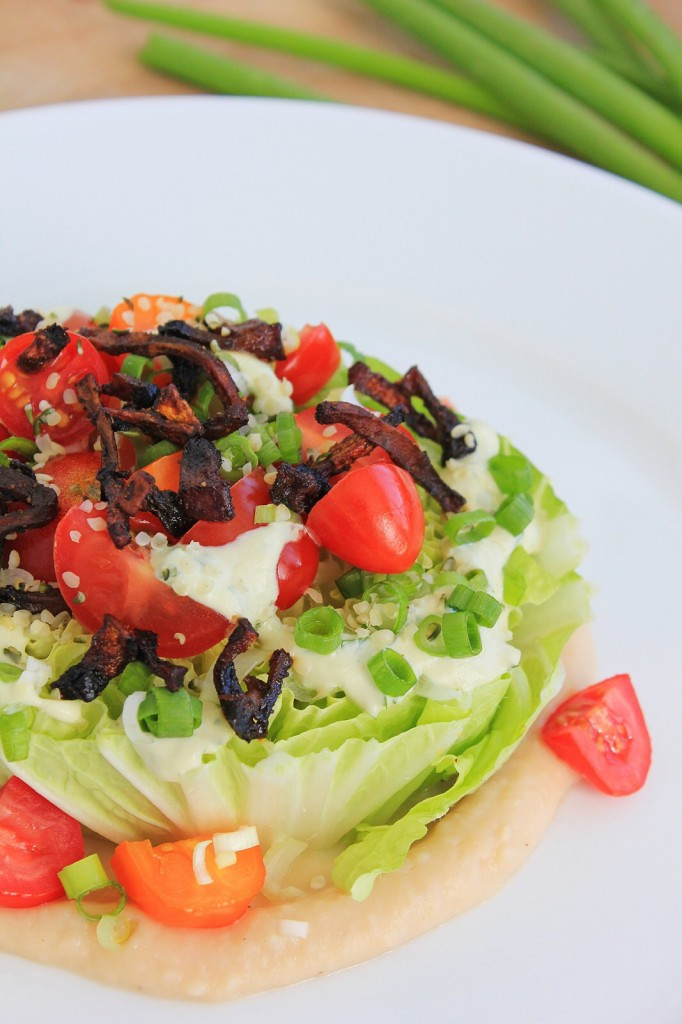 Vegan BLT Wedge Salad