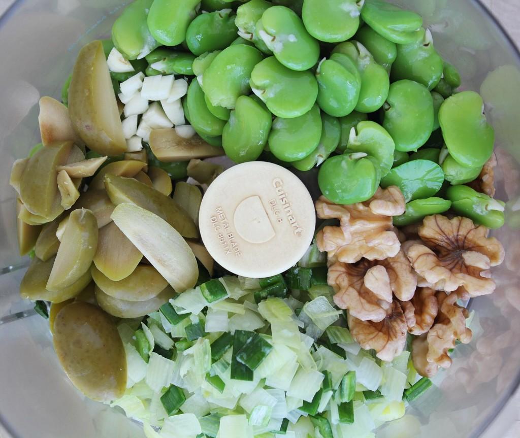 Fresh Fava Bean & Walnut Dip