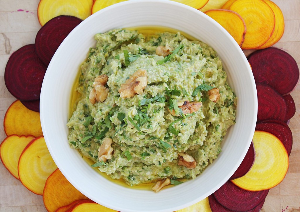 Fresh Fava Bean & Walnut Dip