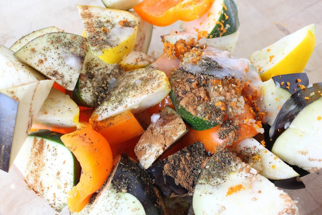 Zahtar Roasted Vegetables with Golden Buckwheat