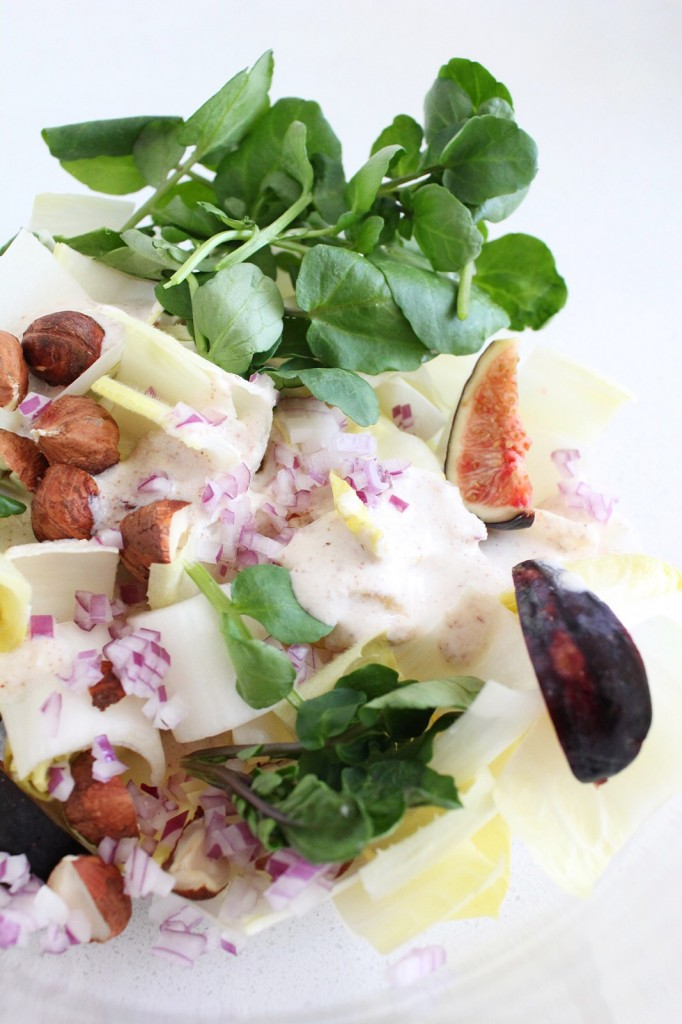 Belgian Endive, Fig & Hazelnut Salad
