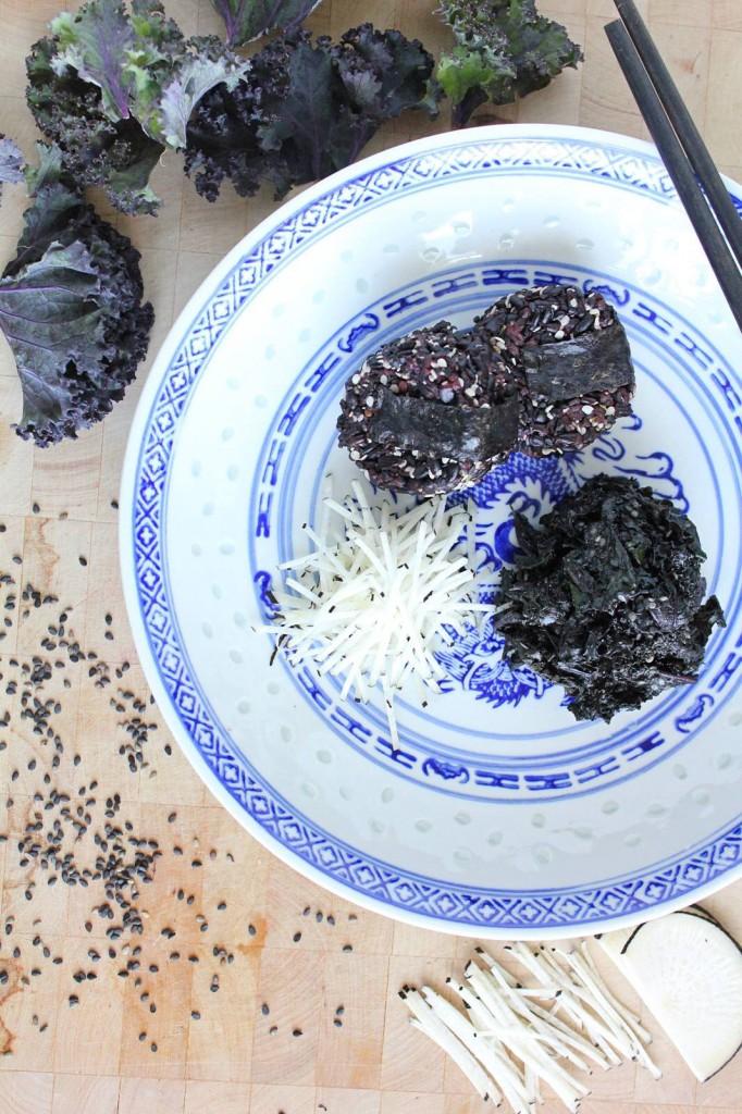 Black Sesame Kale Gomae Salad