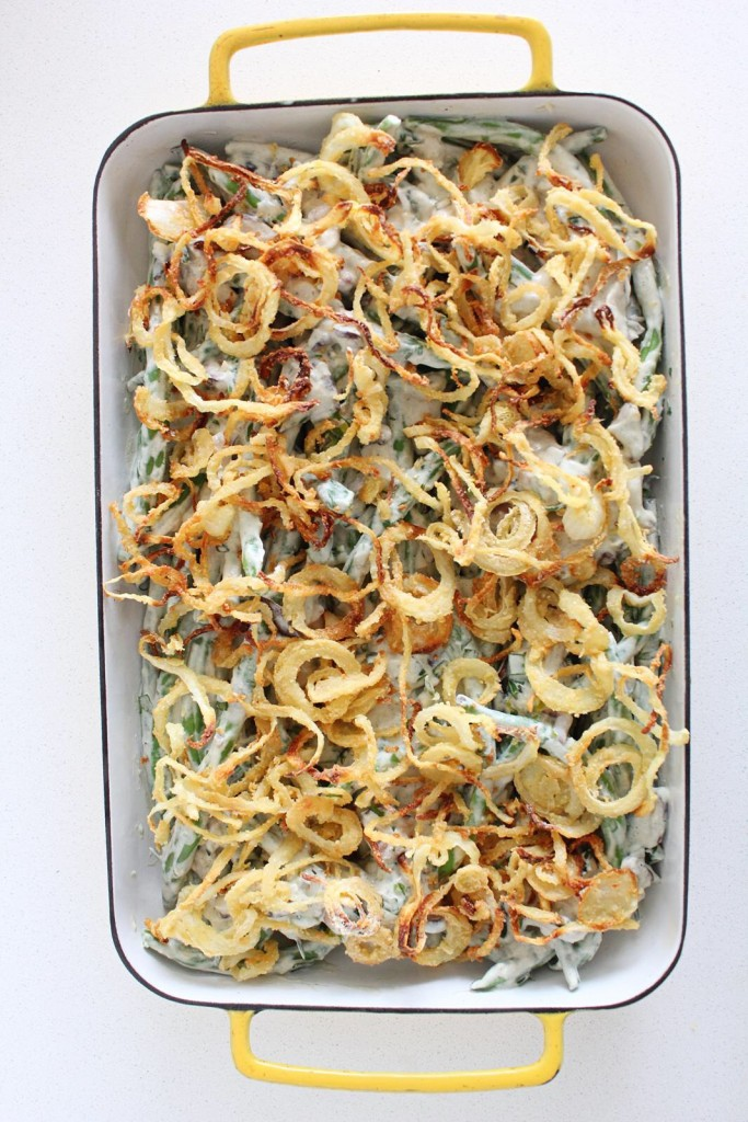 Plant-based Green Bean Casserole