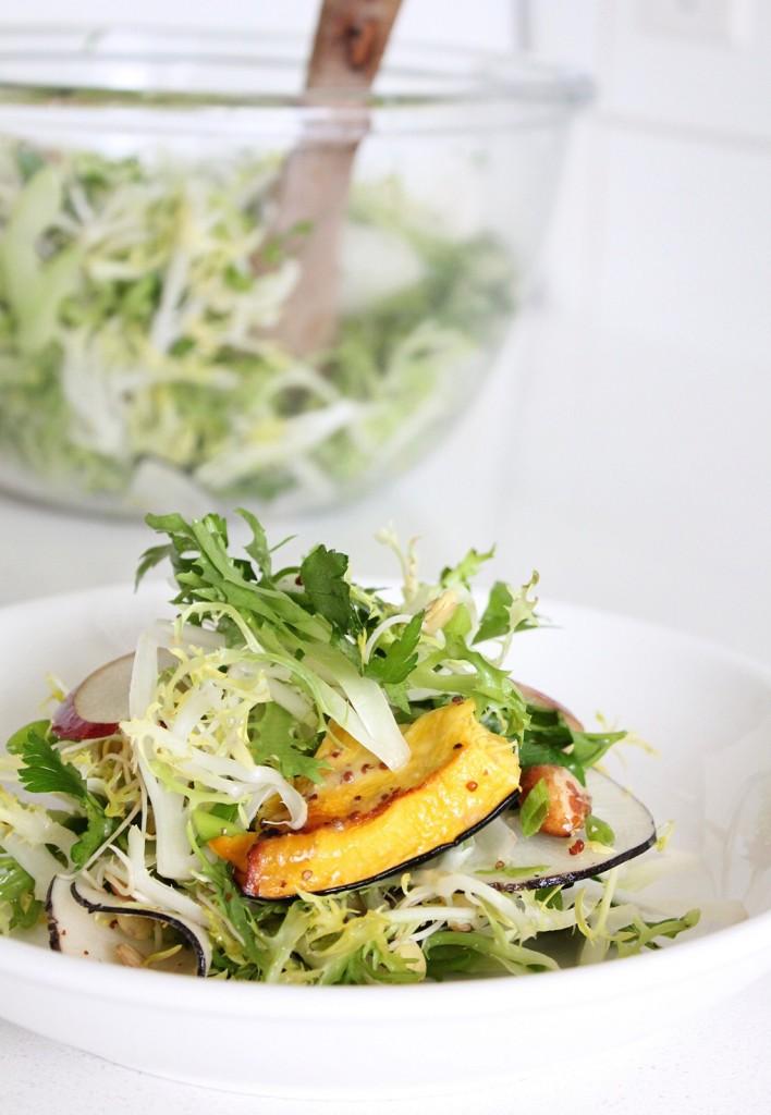 Warm Roasted Squash & Frisée Salad