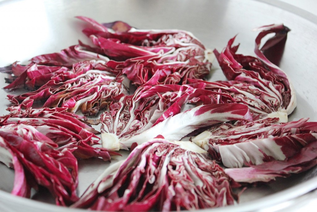 Roast Radicchio with White Beans & Parsley
