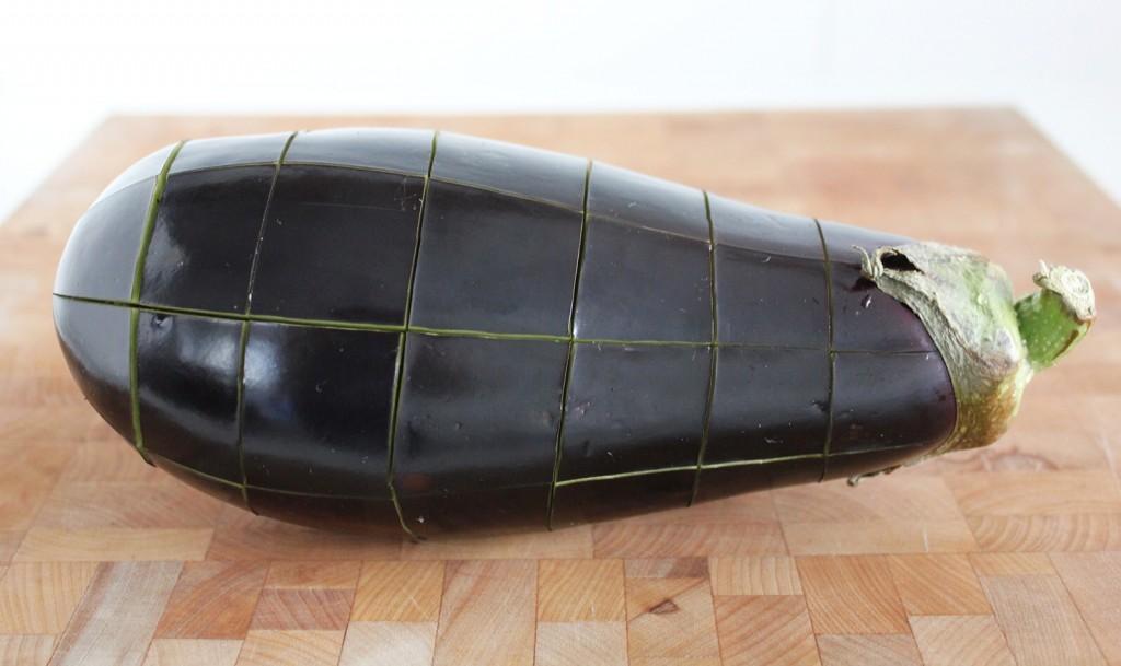Lentil & Herb-Stuffed Eggplant