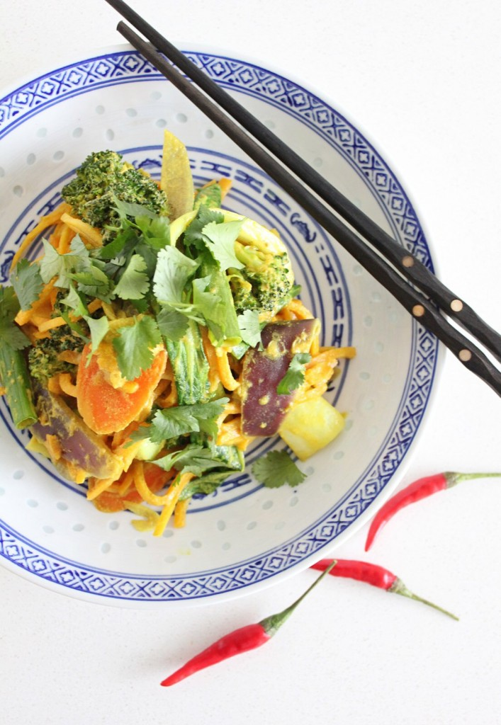 Indonesian Butternut Squash Noodles with Veggies