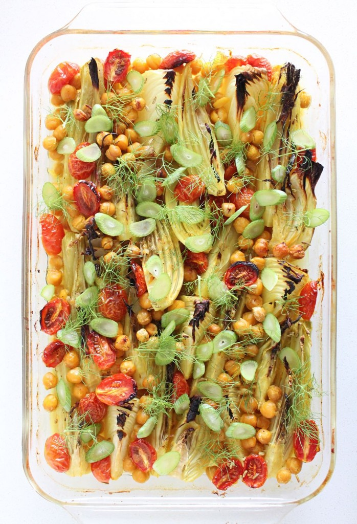 Baised Fennel with Saffron and Chickpeas