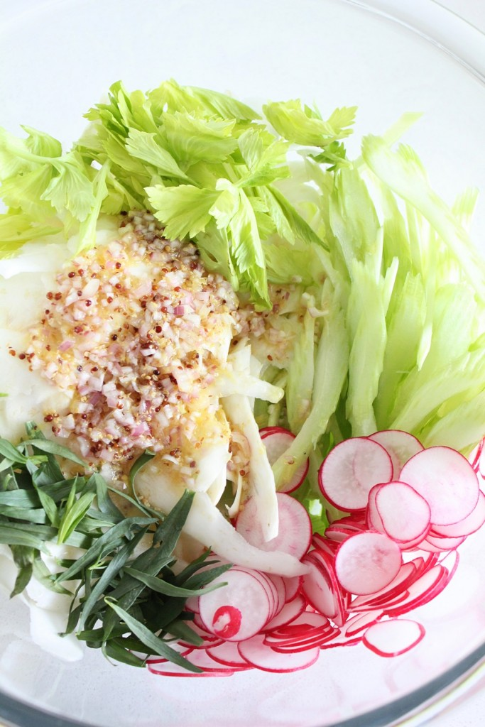 Raw Celery Root Salad with Mustard & Tarragon Vinaigrette
