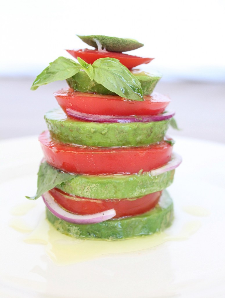 Vegan Avocado Caprese Salad