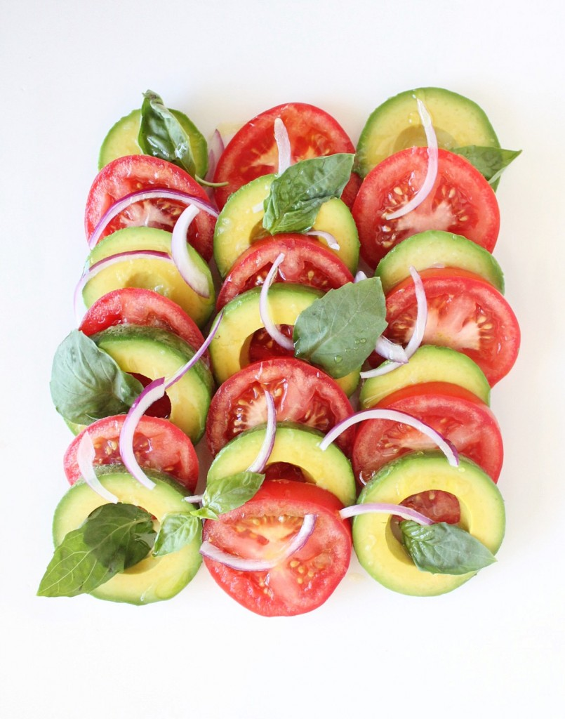 Vegan Avocado Caprese Salad
