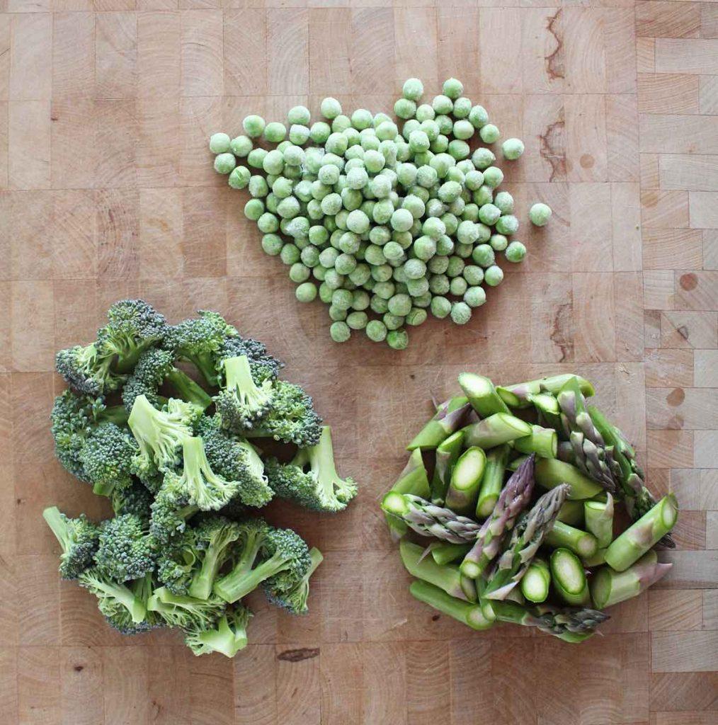 Quinoa Salad with Green Veggies & Macadamia Nut Feta