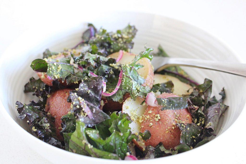Baked Potato and Kale Salad