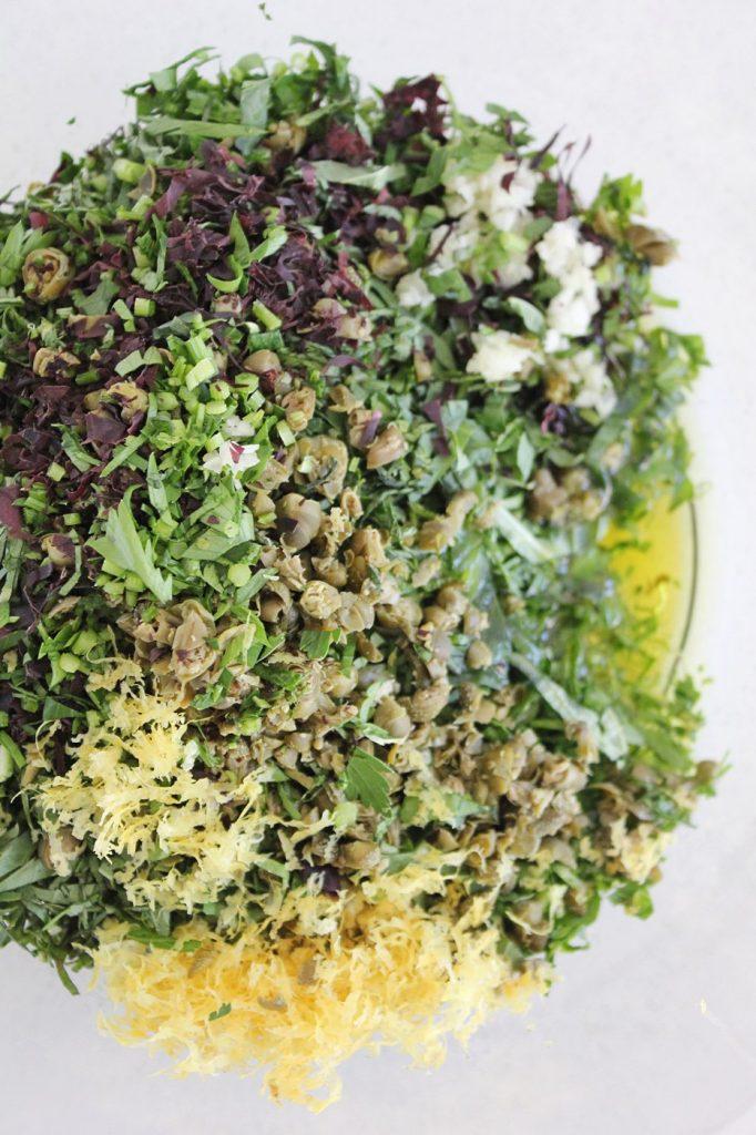 Roasted Veggies with Italian Salsa Verde