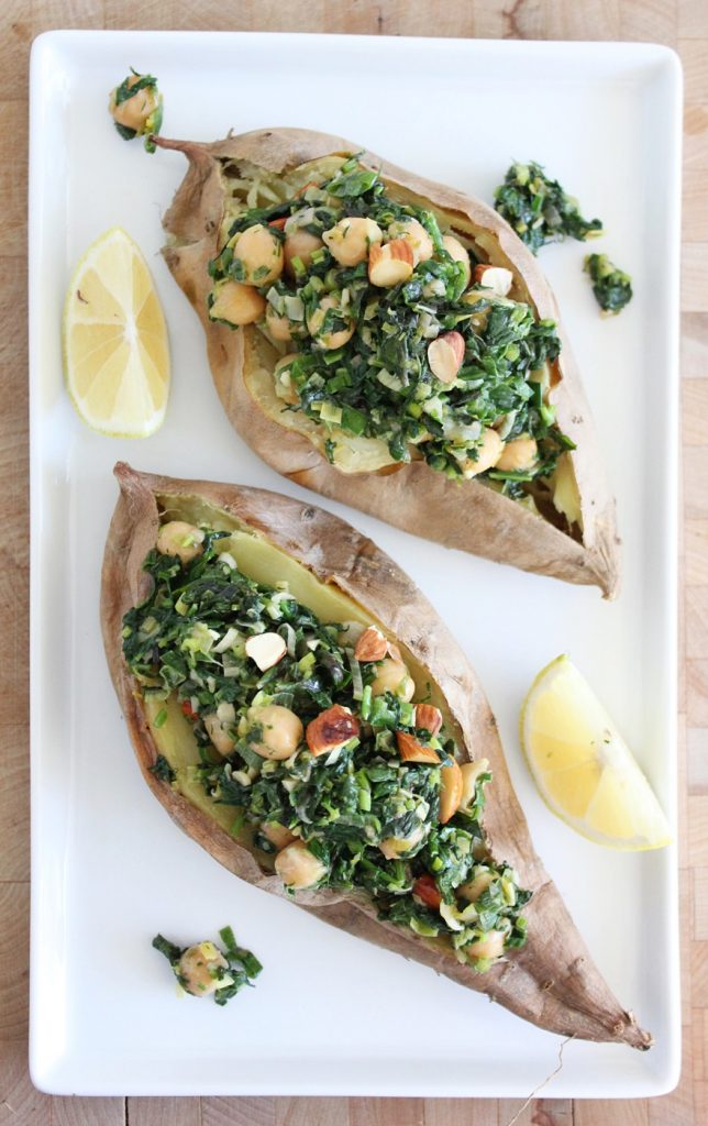 Lemony Greens with Chickpeas