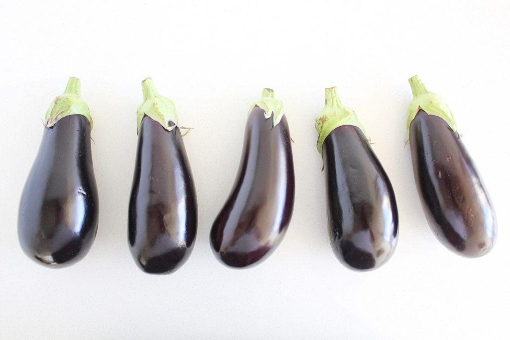 Roasted Whole Eggplant with Tahini and Fresh Herbs