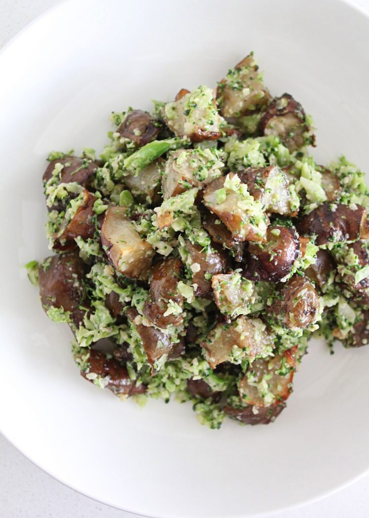 Broccoli Pesto with Roasted Sunchokes