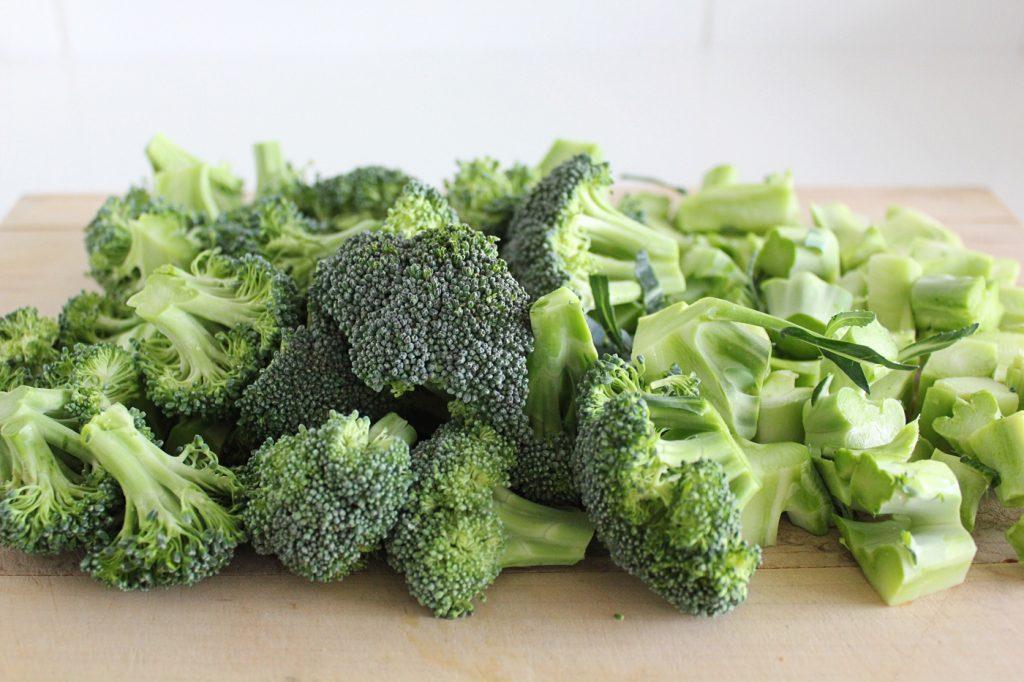 Broccoli Pesto with Roasted Sunchokes