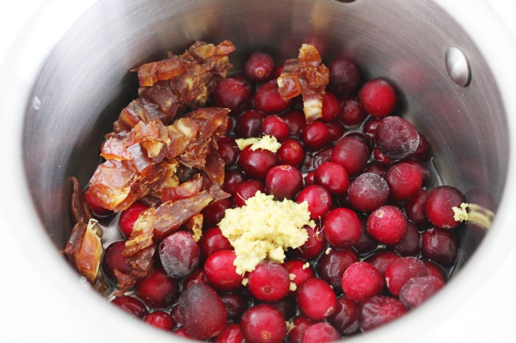 Sugar-free Cranberry Pear Compote
