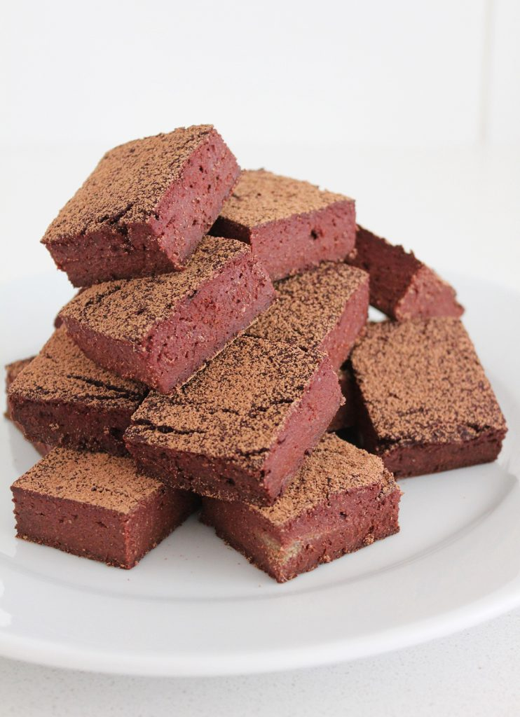 Red Velvet Black Bean Brownies