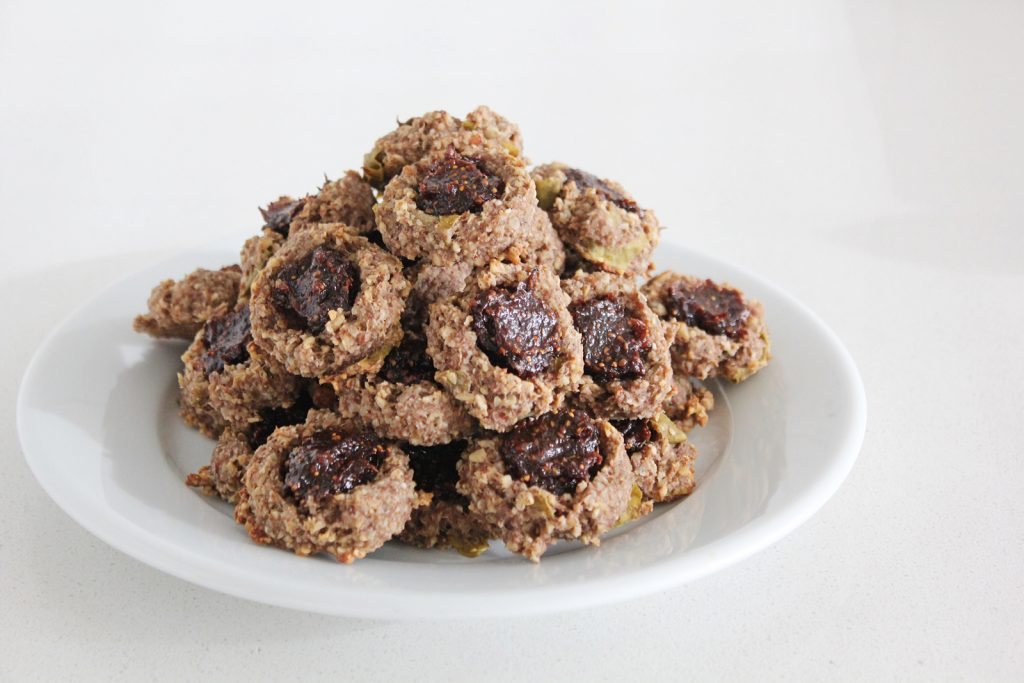 High Fiber Thumbprint Cookies