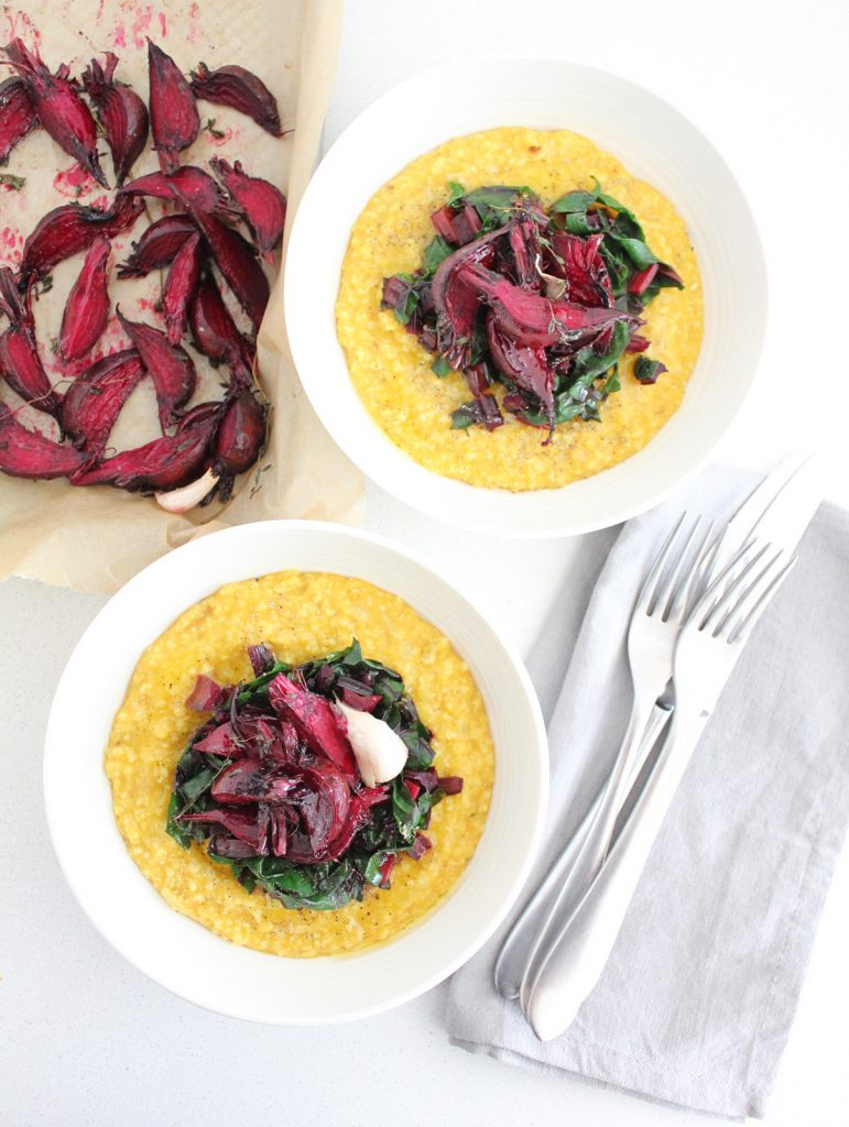 Millet & Butternut Squash Polenta with Roasted Beets