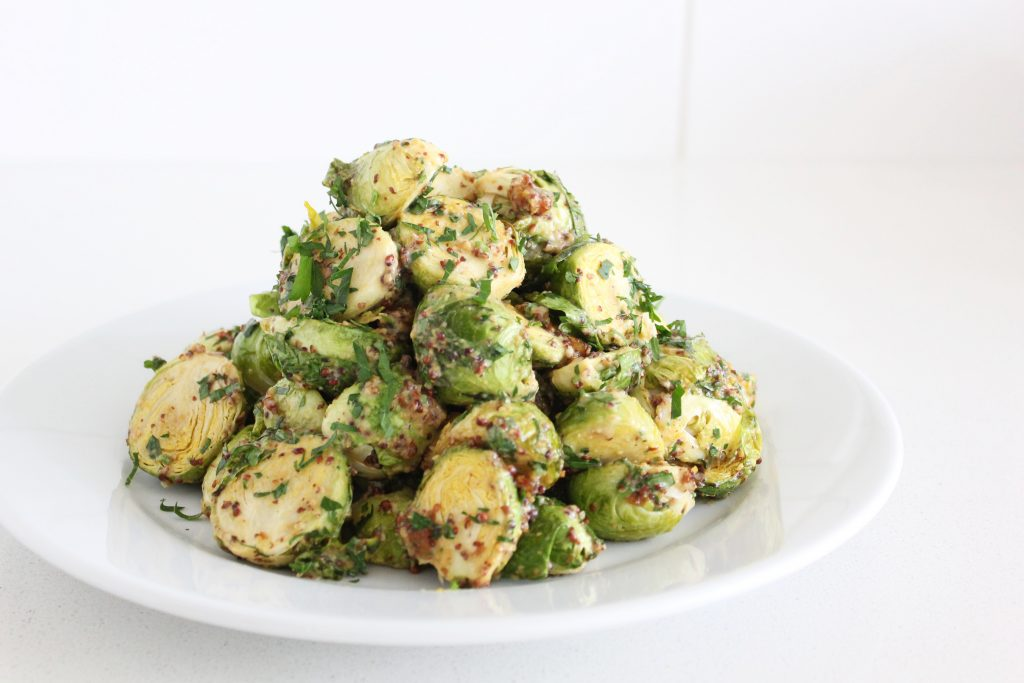Honey Mustard Roasted Brussels Sprouts