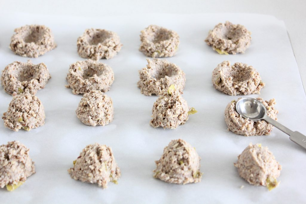High Fiber Thumbprint Cookies