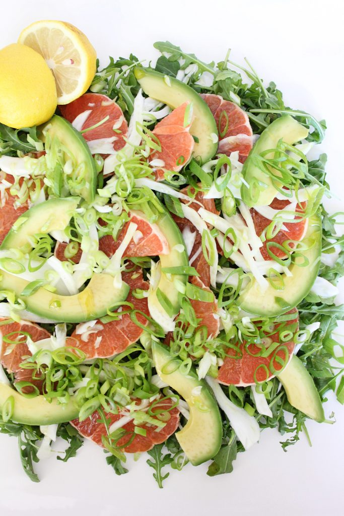 Grapefruit & Arugula Salad with Avocado & Fennel