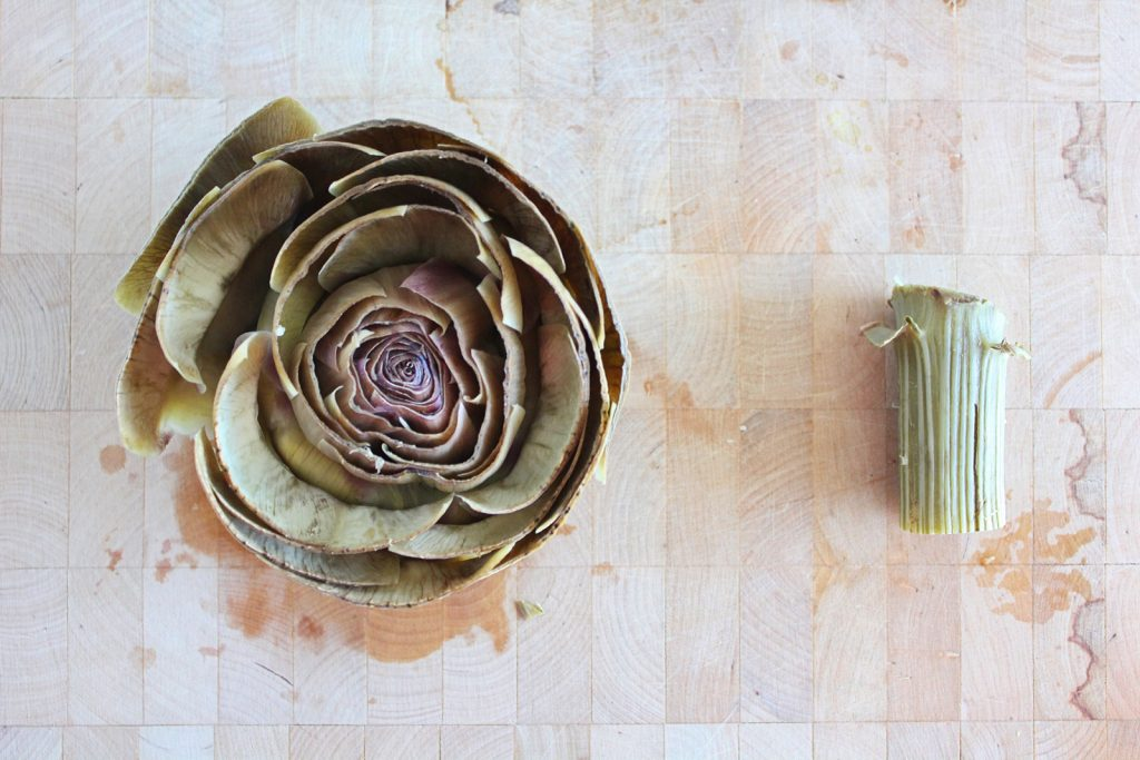 Provençal Millet-stuffed Artichokes