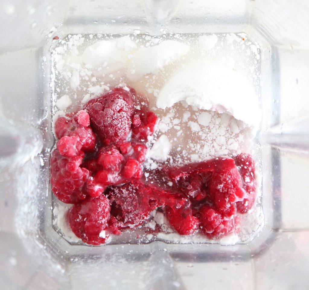 Raspberry Coconut Milkshake