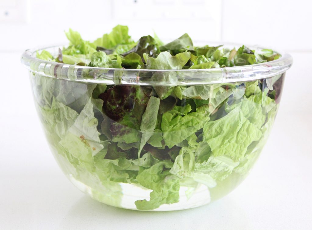 Leafy Greek Salad with Marinated Almonds