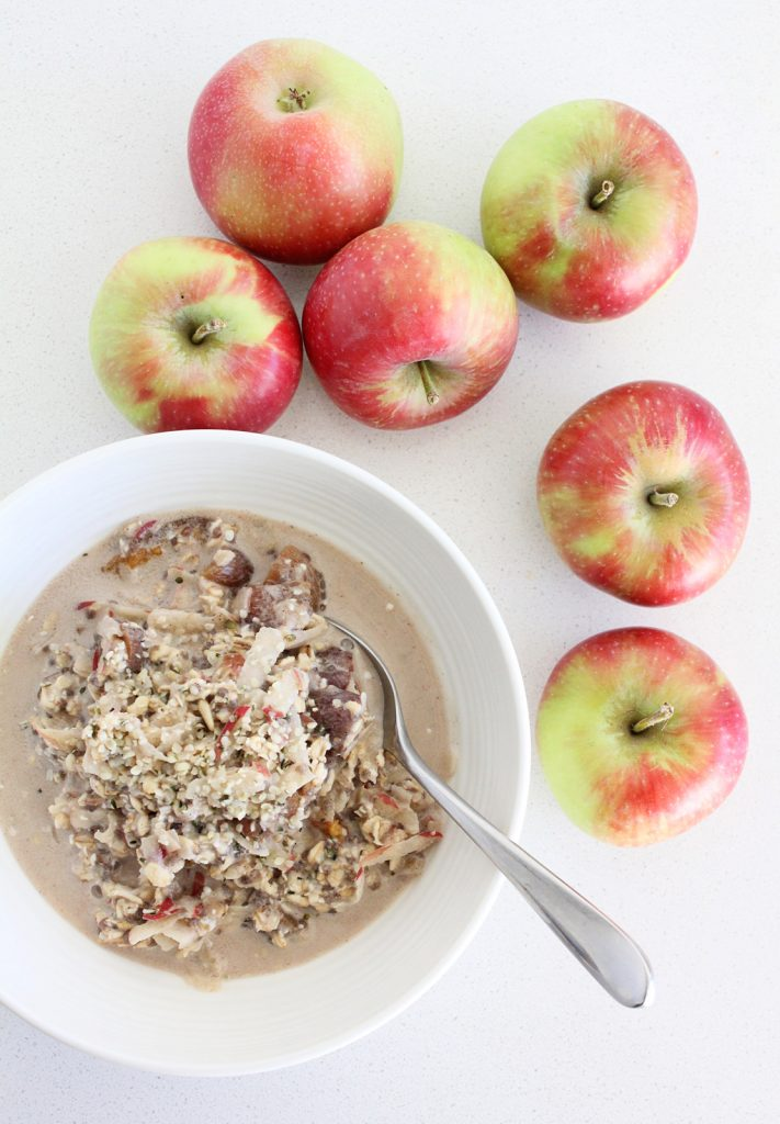 Bircher Muesli with Apples & Dried Apricots